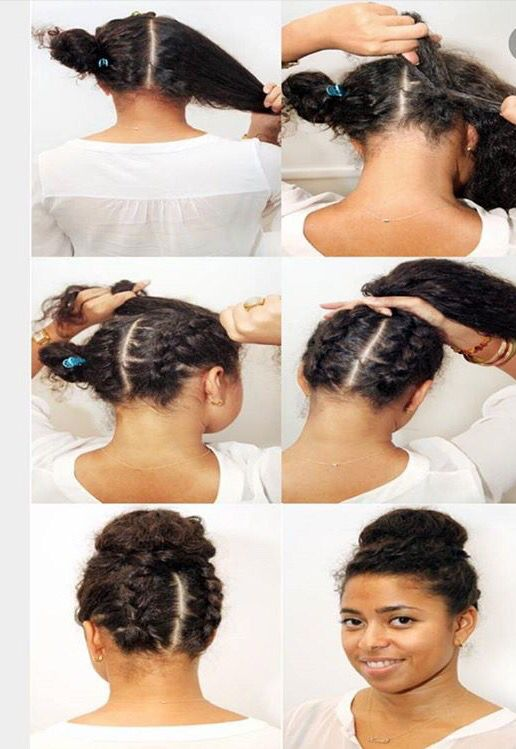 486 best coiffures et tendance images on pinterest natural updo african hairstyles and. Black Bedroom Furniture Sets. Home Design Ideas