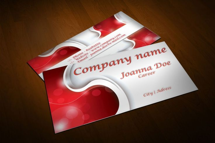 378 best free business cards templates images on pinterest free free modern red business card design with abstract 3d effects available for download as adobe reheart Images