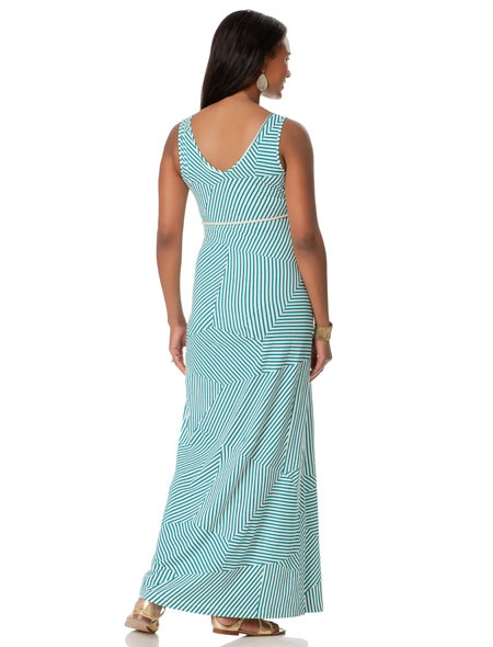 Sleeveless Belted Maternity Maxi Dress