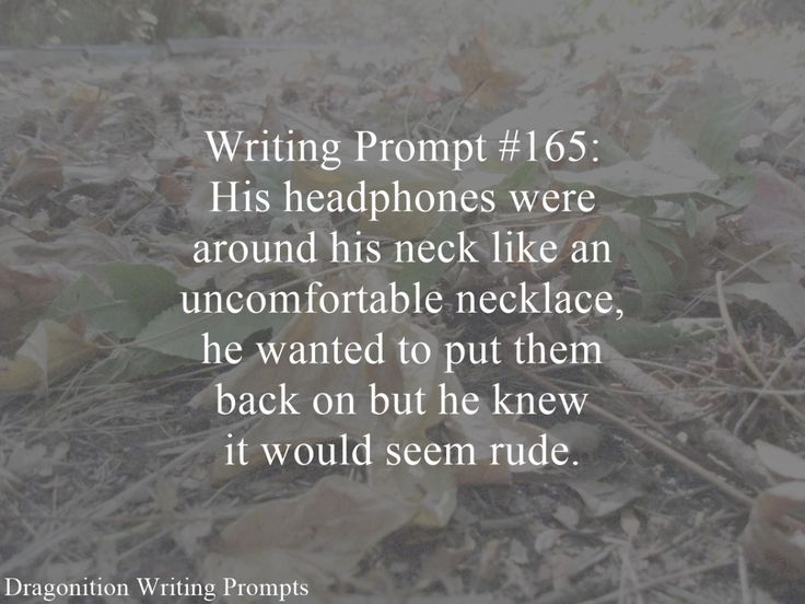 Write around prompts