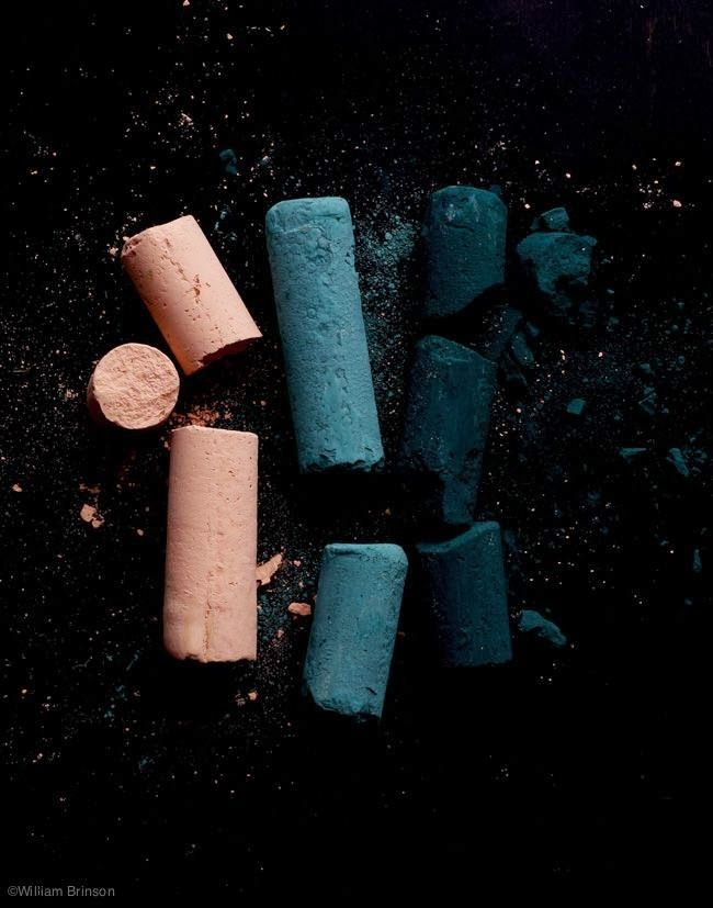 Blush pink, blue and teal on black. Gorgeous colour combo