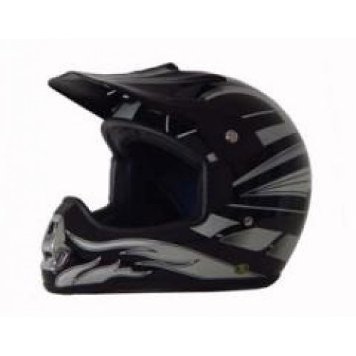 DOT ATV Dirt Bike MX Black Graphic Motorcycle HelmetGot DIRT!  This full featured motorcycle/ atv helmet will last many years on those offroad adventures. Made to last and fit comfortable from the quality components that make up the construction of the helmet, all the way to the finely detailed plush moisture absorbent interior designed to be removed and easily washed. These Motocross helmets offer the ultimate in style and full DOT approved protection without breaking the bank.