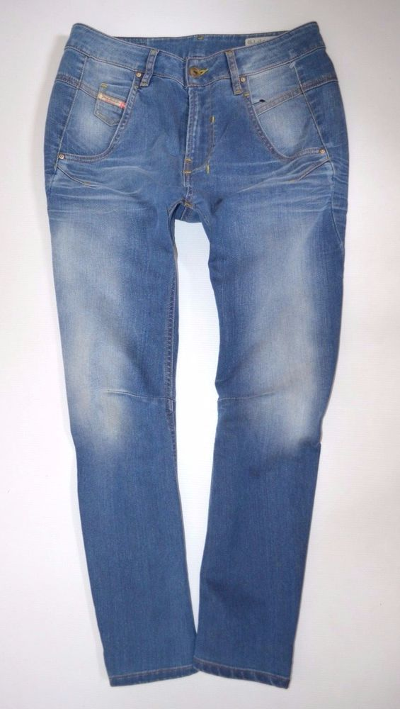 "NEW Ladies DIESEL FAYZA 0885I BOYFRIEND JEANS womans size W27 L32  uk 10 32""leg"