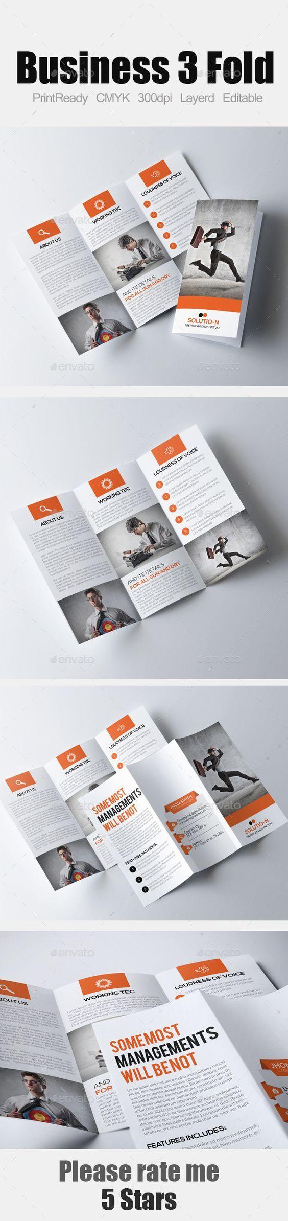 Tri Fold Business Brochure Template #design Download: http://graphicriver.net/item/tri-fold-business-brochure/12209493?ref=ksioks: