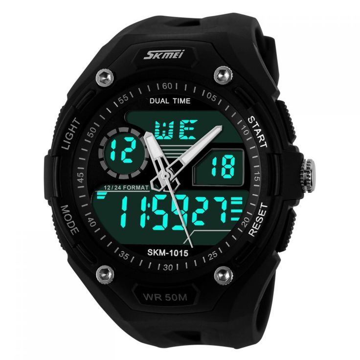 Jam Tangan Pria SKMEI Dual Time S-Shock Sport Watch Original AD1015 Hitam