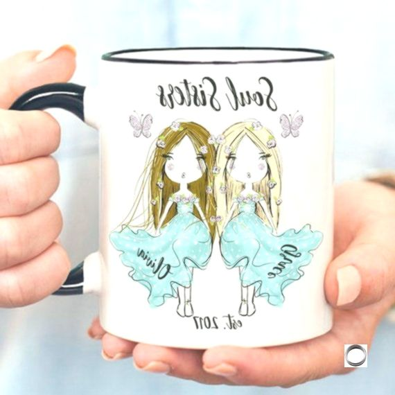 Custom Soul Sisters Mug Gift For Best Friend Girlfriend Mugs Soul Sister Gifts Personalized Long Distance You're My Person Choice Friendship,