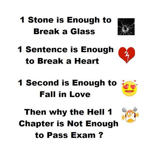 Haaa yaarrr exams ki liye kitnai Padna padta haiii