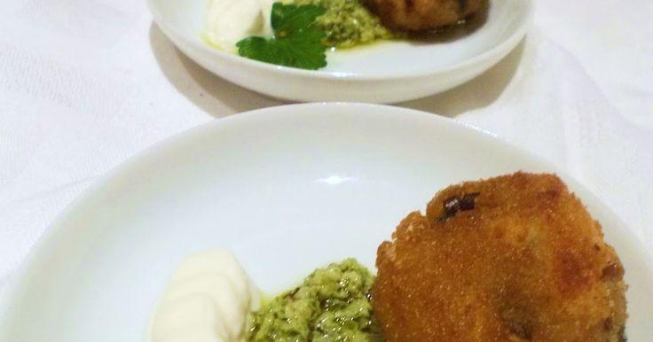 Radici di zenzero: Ricetta green...Polpettine di pesce spada e melanzane con salsa di erbette e yogurt al limone e zenzero