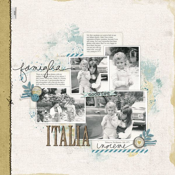 beautiful #scrapbook page by Irene at #designerdigitals