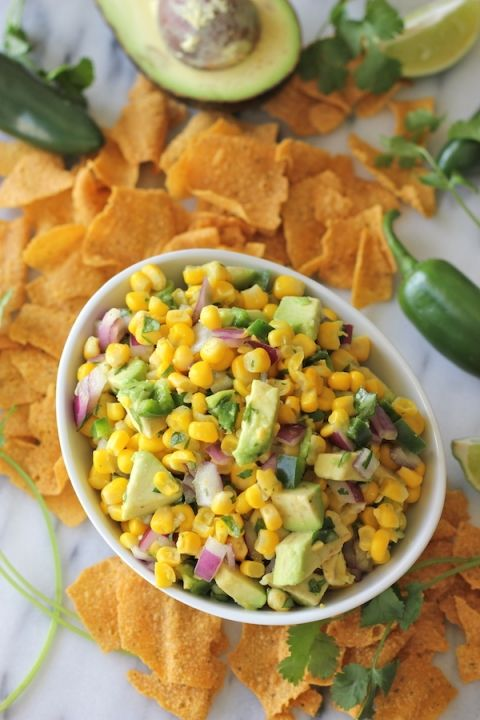 Avocado Corn Salsa - Tastes just like Chipotle's corn salsa but it's really a million times better!