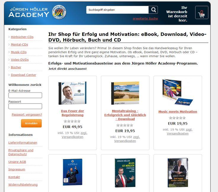 Shop meines Kunden Jürgen Höller für Motivation und Erfolg http://www.juergen-hoeller-shop.de/