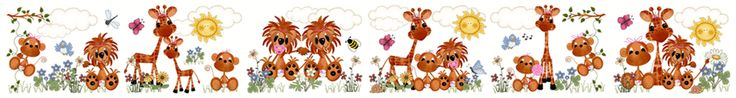 Jungle Zoo Animals Wall Border Decals Baby Girl Nursery Kids Room Decor - Monkeys, Lions, & Giraffes. #decampstudios www.decampstudios.com