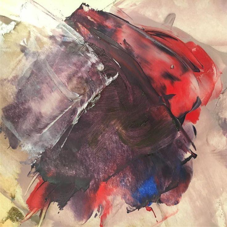 Thin translucent layered paint. #oilpaint#paintporn