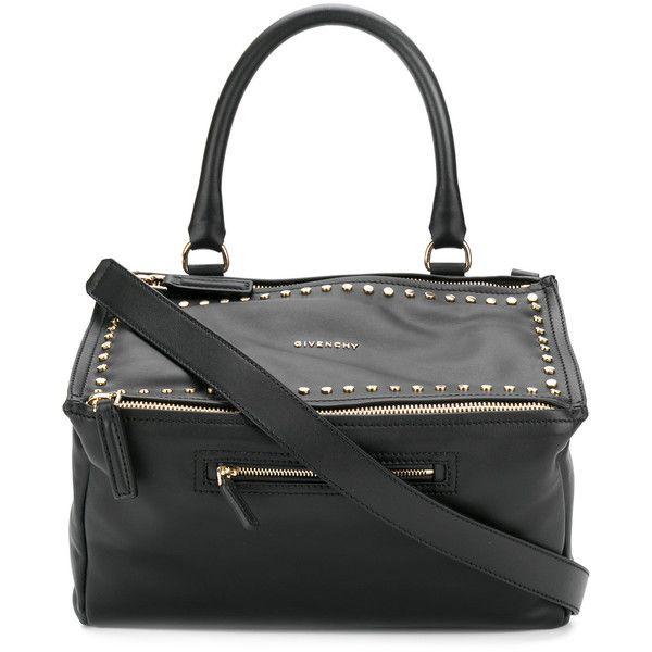 Givenchy medium Pandora bag (126,145 PHP) ❤ liked on Polyvore featuring bags, handbags, shoulder bags, black, 100 leather handbags, genuine leather shoulder bag, leather handbags, structured handbags and genuine leather handbags