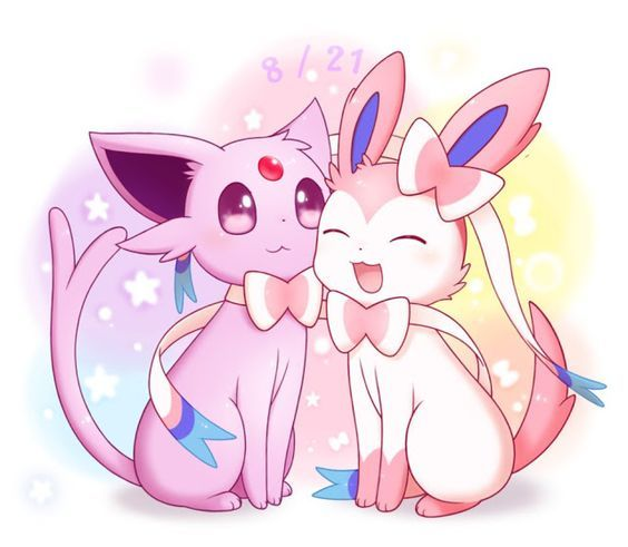 espeon y sylveon | pokemon | Pinterest