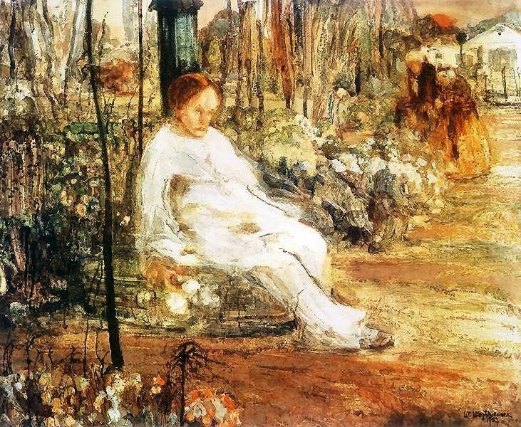 Pierrô desconsolado, 1907 Witold Wojtkiewicz (Polônia, 1879 — 1909) Têmpera sobre madeira,  65 x 80 cm Museu de Naradowe, Posnan, ...