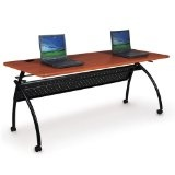 "Chi Flipper Table Width: 72"", Color: Light Cherry (Office Product)"