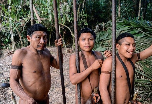 """""""This fall, 21 members of the Korubo tribe—who live deep in the Amazon rainforest, follow a traditional way of life, and typically shun interactions with outsiders—made contact with settled Matis villagers in western Brazil.... [A] broader debate [has been rekindled] about how to manage contact as isolated indigenous peoples increasingly emerge from the forest, displaced by mining, logging, and illegal activities."""""""