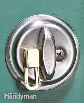 "The lock holds the deadbolt in place  Replace a dead bolt screw with SIMLock's special screw, then slide the ""lock"" over it to keep the dead bolt from turning. This product only works on dead bolts that lock in the vertical position."