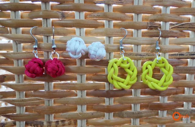 Ohoh Blog - diy and crafts: DIY knot earrings