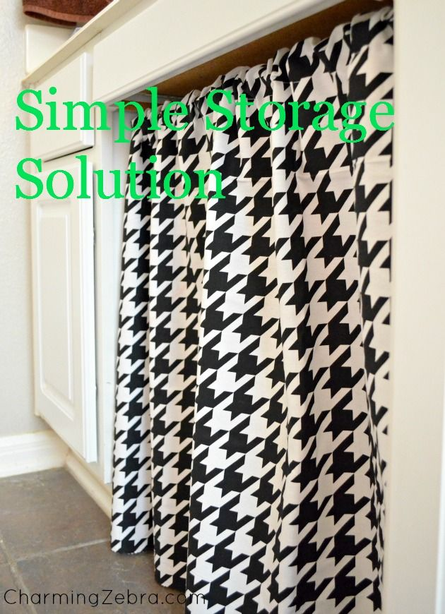 Houndstooth Diy Curtain For Bathroom Or Kitchen