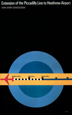 Designed by Tom Eckersley: Toms, Graphic Design, London Underground, Tom Eckersley, Posters, Extensions