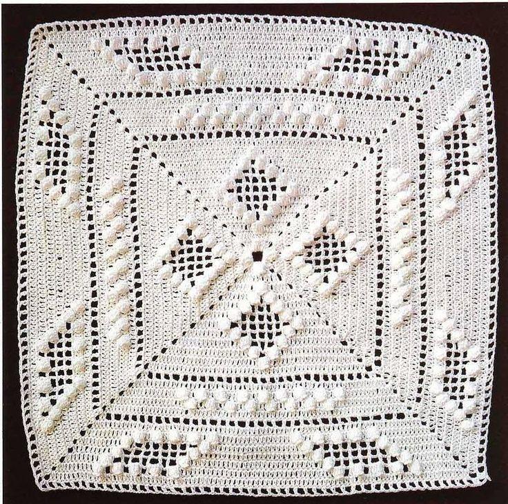 M s de 1000 im genes sobre colchas a crochet en pinterest - Colchas a ganchillo muestras ...