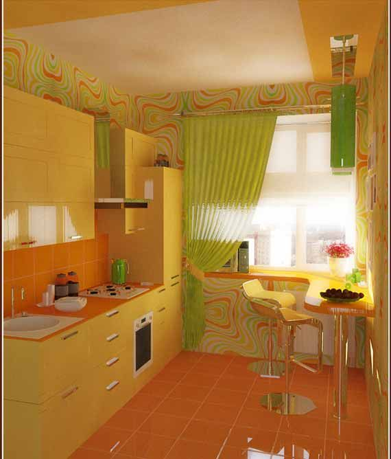 orange and yellow kitchen ideas