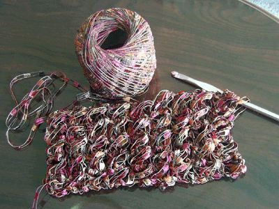 Patterns Using Ladder Yarn Scarf | Perfect! I think this would make a wonderful, delicate scarf. This is ...