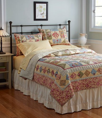 32 best Bedrooms images on Pinterest | Wood grain, Wrought iron ... : llbean quilts - Adamdwight.com