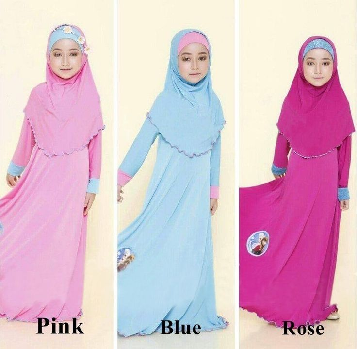 GIrls Kids Abaya Islamic Clothes Girl Dress Hijab Muslim Ramadan Clothing Anna | eBay
