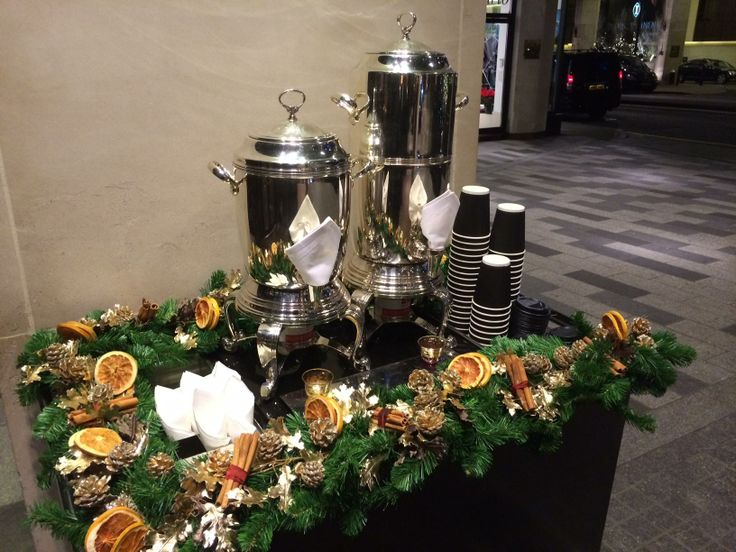 The perfect way to warm up this Christmas - our mulled cider station.