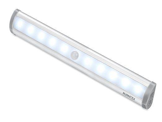AVANTEK 10 LED センサーライト 人感センサー 電池式 マグネット付き 貼り付け型 クロゼットに ELF-L1