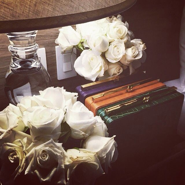 Once upon a time a rainbow boxys with white roses!