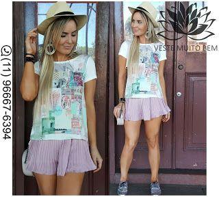 Camiseta Estampada R$ 6500 (somente loja física)  Mini Saia Plissada R$ 6500 (somente loja física) #vestemuitobem #moda #modafeminina #modaparameninas #estilo #roupas #lookdodia #roupasfemininas #tendência #beleza #bonita #gata #linda #elegant #elegance #jardimavelino