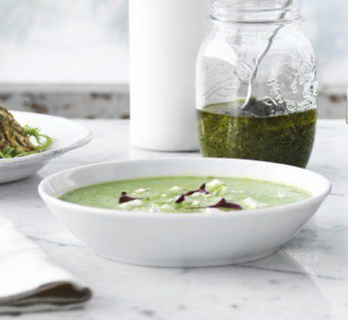 Soupe aux courgettes, aux asperges et aux pois | Vitamix