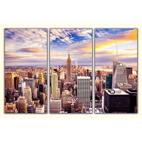 Obraz na płótnie w 3 częściach tryptyk - Nowy Jork #fedkolor #obrazzezdjęcia #zdjęcie #fotografia #wydrukuj #drukowanie #wydruk #miasto #NowyJork #NewYork #miejski #poliptyk #tryptyk #obraz #obraznapłótnie #napłótnie #naścienne #dekoracje #ozdoby