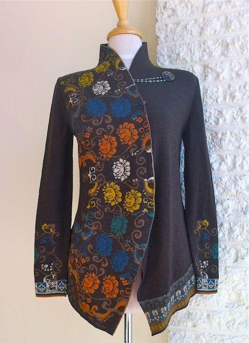 Ivko assymmetrical cardigan in brown 2013