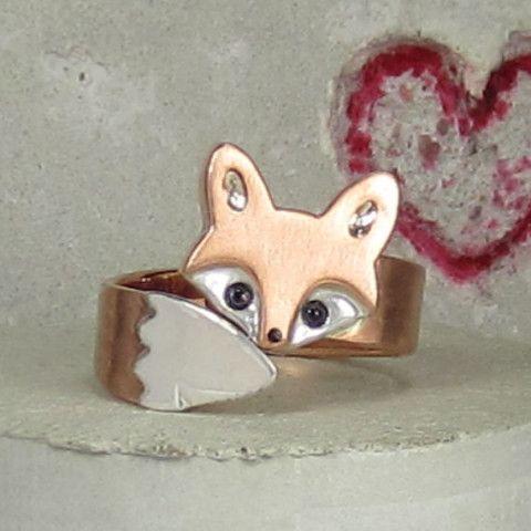 Wrap Around Baby Fox Ring