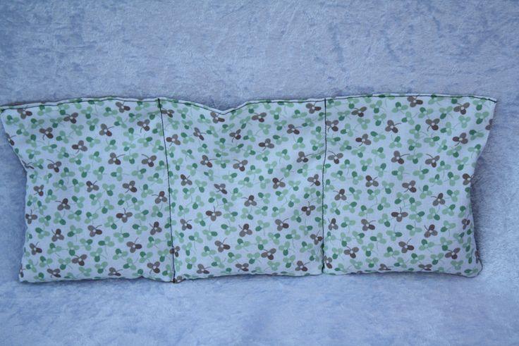 Wärmekissen - Wärme Kissen grün weiß beige Punkte Blumen   - ein Designerstück von trixies-zauberhafte-Welten bei DaWanda