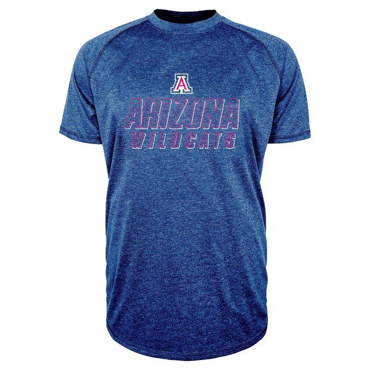 NCAA Men's Team Glory Performance Heathered T-Shirt Arizona Wildcats L, Multicolored