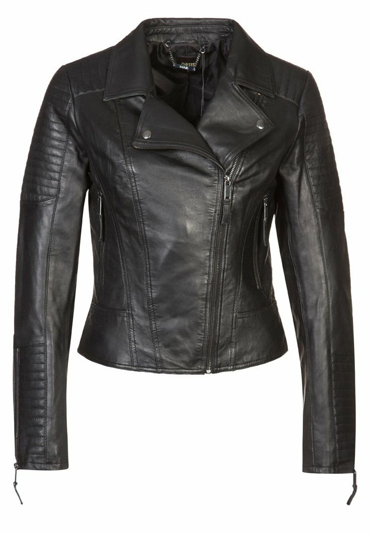 Oasis - Leather jacket - black