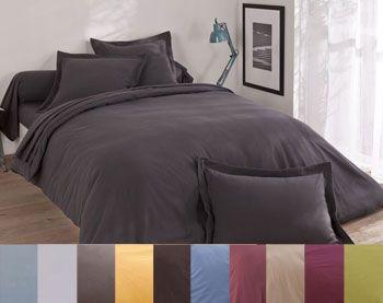 Linge de lit flanelle unie Lauréat