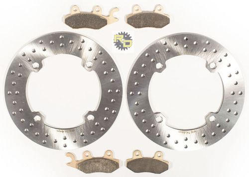 2011 Can-Am Commander 800 XTI Front Brake Rotor Discs And Severe Duty Brake Pads