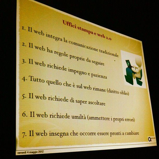 Corso Uffico Stampa e web 2.0: regole del web