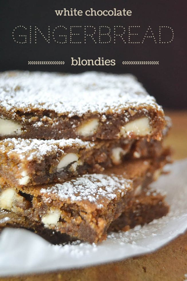 White Chocolate Gingerbread Blondies 2