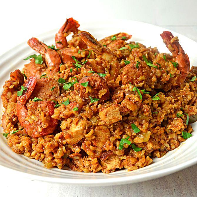 Chicken, Shrimp and Sausage Jambalaya | Food | Pinterest
