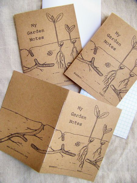 Free printable garden notebooks for the kids by the ever inspiring Alice Cantrell