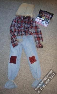 DIY Tutorial DIY Men Halloween Costumes / How to Make a Scarecrow Costume - Bead&Cord