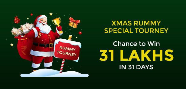Celebrate Xmas with Rs 31,00,000 in cash prizes in our Xmas Special Tourney only at Classic Rummy this entire month! Have a merry Christmas!